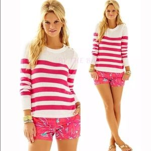 Lilly Pulitzer Pink Stripe Flagler Sweater